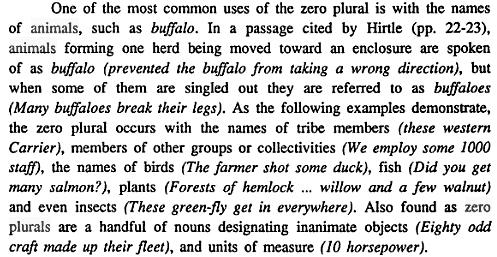 Zero plurals
